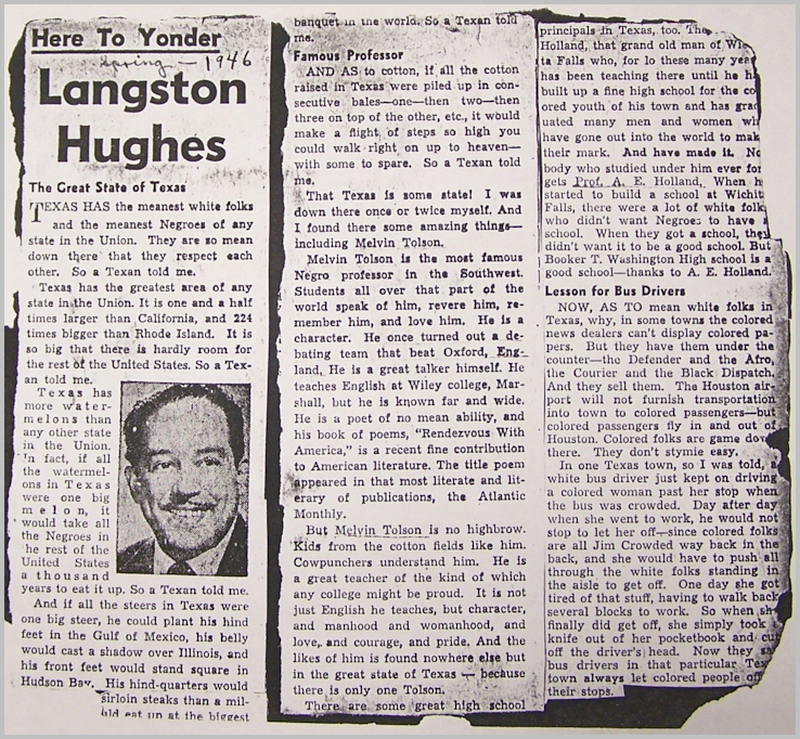 "chicago defender essay hughes langston race The chicago defender was the united states' most influential black weekly   the paper covered brutal incidents of racism in the south and  poet gwendolyn  brooks, and langston hughes, whose ""simple"" stories first."