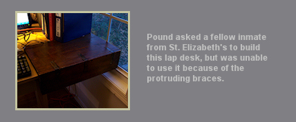 Ezra Pound Photo unwanted lap desk